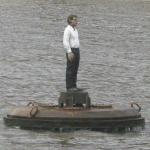 Mann auf dem Wasser